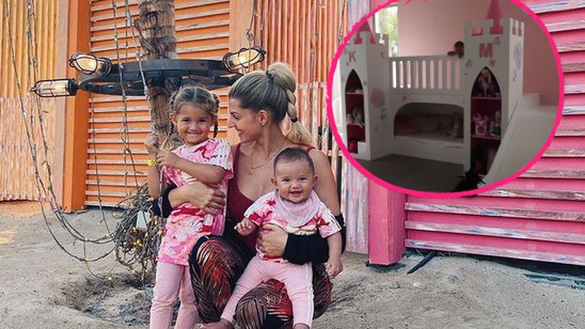 Mit Schloss: Mia und Kyla Harrisons haben XXL-Spielzimmer