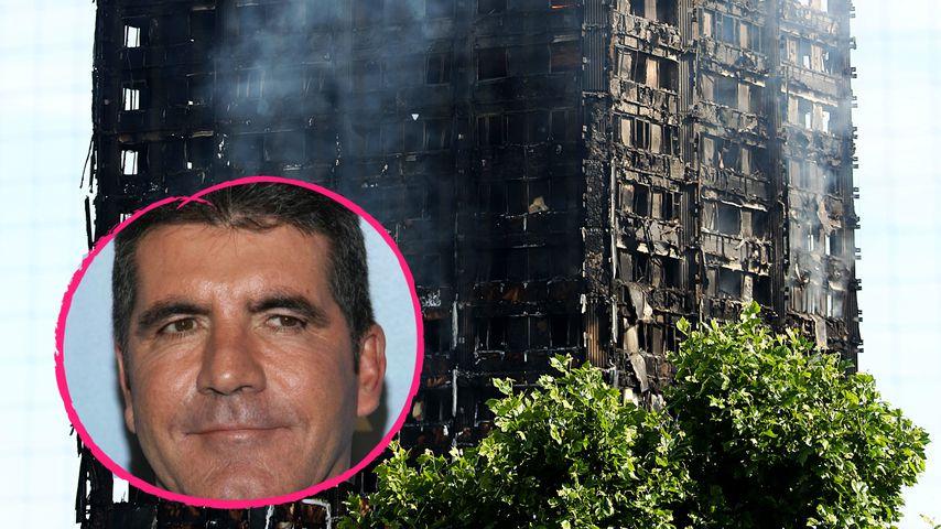 London: Simon Cowell startet Charity-Aktion für Feuer-Opfer!