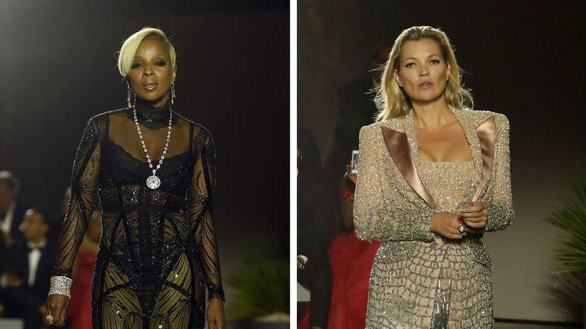 Collage von Mary J. Blige und Kate Moss