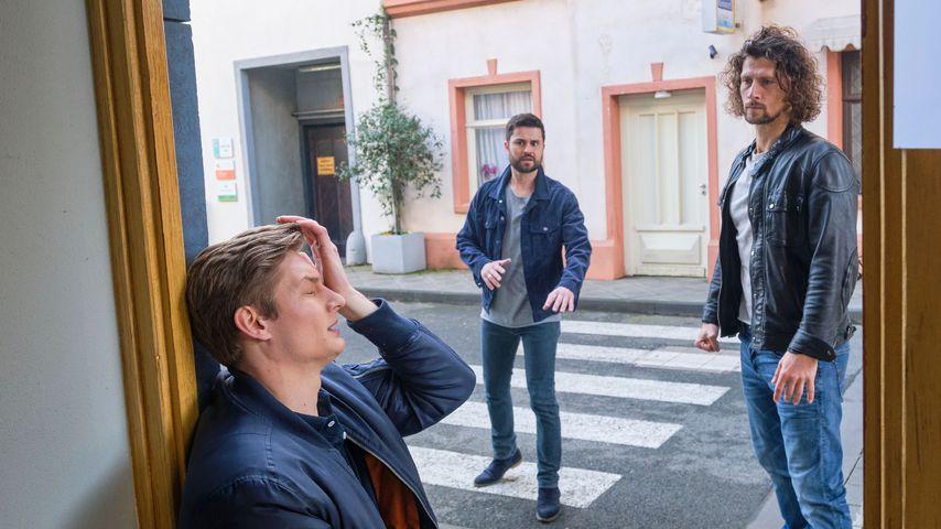 "Conor (Yannik Meyer), Paco (Miloš Vuković) und Luke (Jakob Graf) bei ""Unter uns"""
