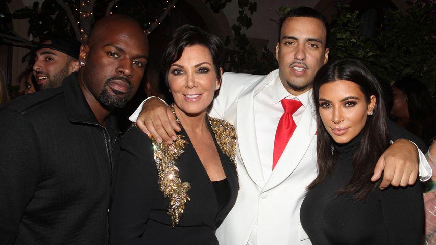 Kim Kardashian, Kris Jenner, French Montana und Corey Gamble