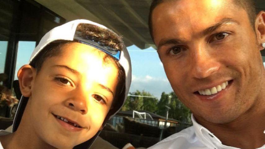 Cristiano Ronaldo und sein Sohn Ronaldo Jr.