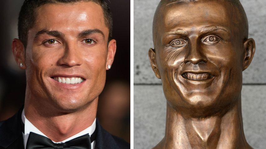Mega-Fail: So schräg sieht Cristiano Ronaldos Statue aus!