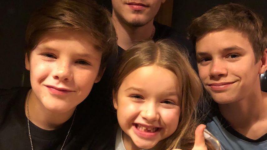 Cruz, Brooklyn, Harper und Romeo Beckham