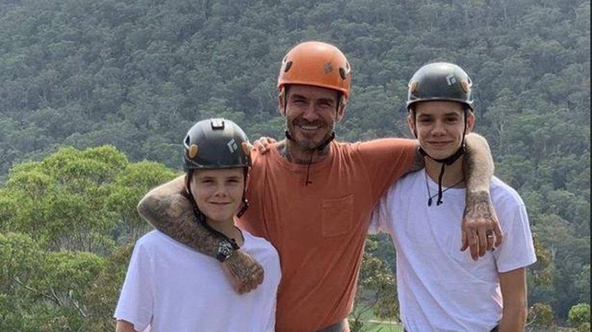 Cruz, David und Romeo Beckham in Australien