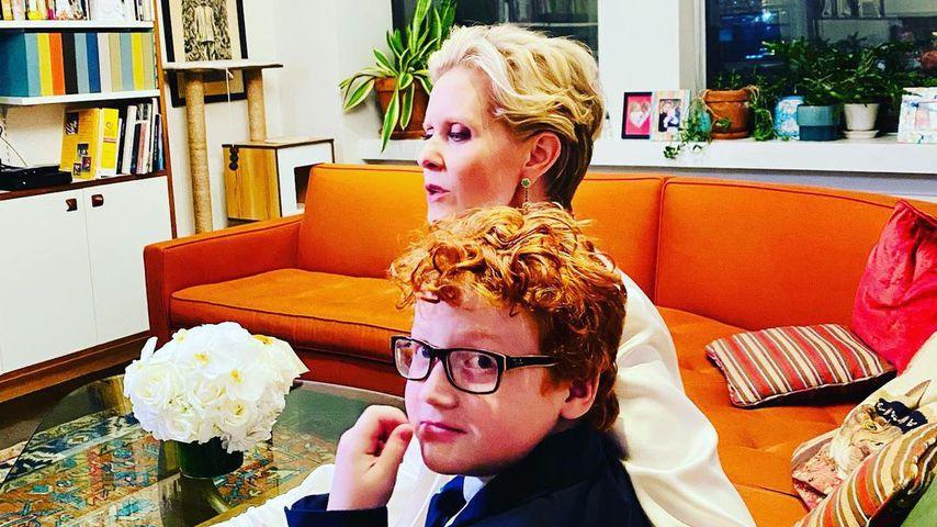 Cynthia Nixon mit ihrem Sohn Max