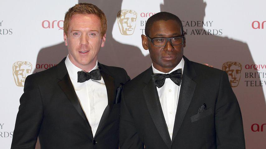 Damian Lewis und David Harewood bei den British Academy Television Awards, 2013
