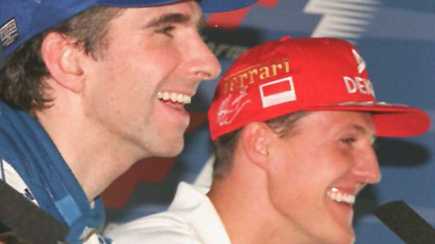 Damon Hill und Michael Schumacher 1996 in Silverstone