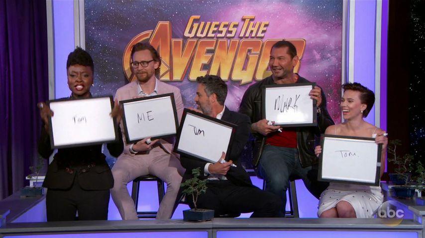 Danai Gurira, Tom Hiddleston, Mark Ruffalo, Dave Bautista und Scarlett Johansson