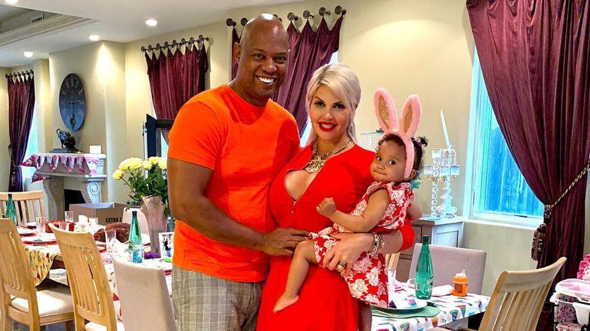 Daniel Charlier, Sophia Vegas und ihre Tochter Amanda im April 2020 in Beverly Hills