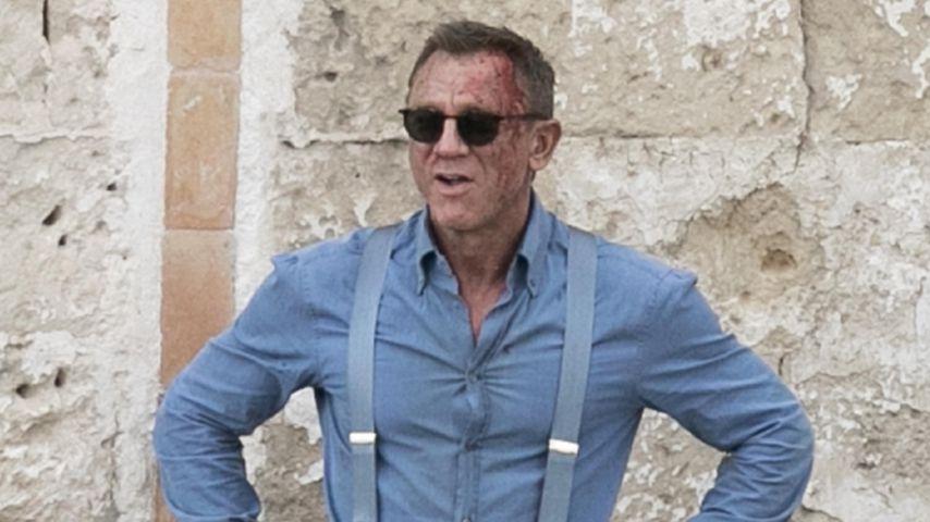 Daniel Craig bei Dreharbeiten in Italien