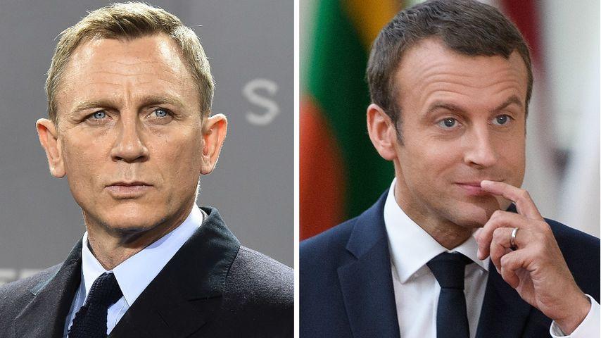 Daniel Craig und Emmanuel Macron