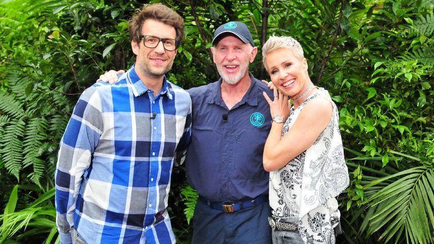 Moderatoren-Duo Daniel Hartwich und Sonja Zietlow mit Dr. Bob