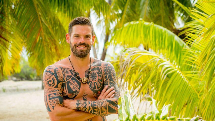 Daniel Köllerer am Strand von Tahiti