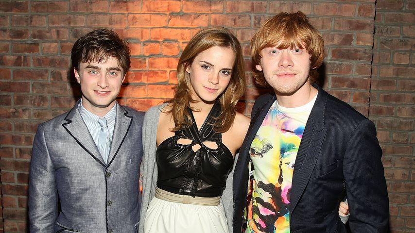 """Daniel Radcliffe, Emma Watson und Rupert Grint bei der """"Harry Potter und der Halbblutprinz""""-Party"""