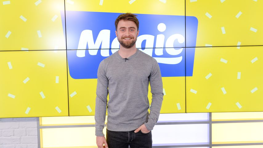 "Daniel Radcliffe in der Radioshow ""Magic Radio"" in London im April 2019"