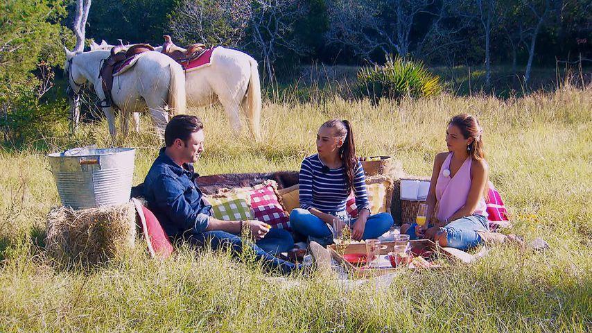 Daniel, Samira und Kristina beim Bachelor-Date