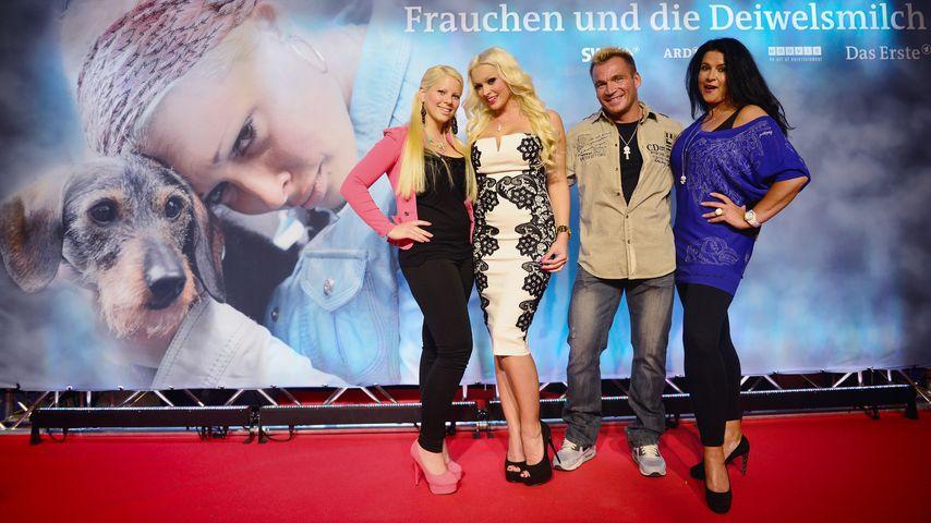 Daniela Katzenberger, Iris Klein, Jennifer Frankhauser und Peter Klein