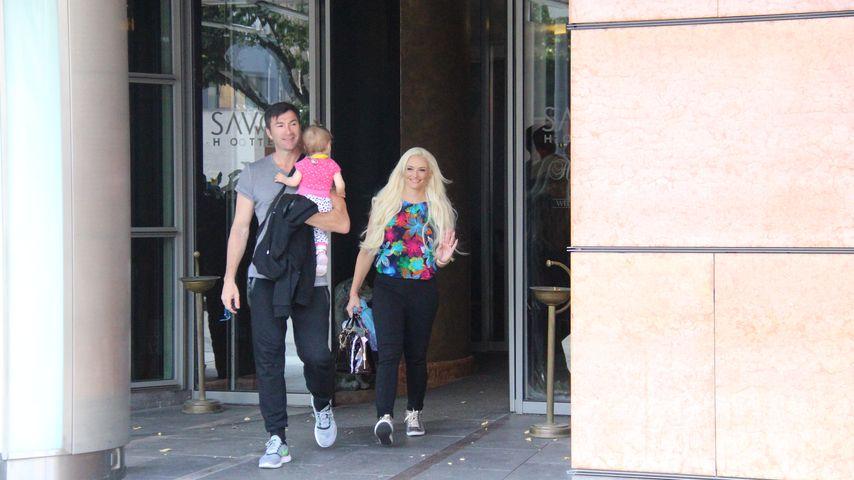 Daniela Katzenberger und Lucas Cordalis mit Tochter Sophia