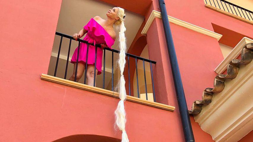 Mit XXL-Extensions: Daniela Katzenberger macht die Rapunzel