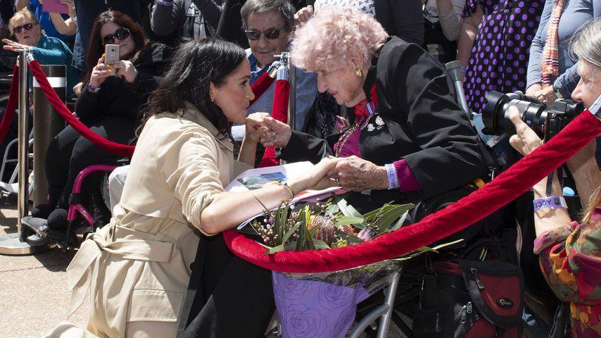 Prinz Harrys größter Fan (98) lernt endlich Meghan kennen!