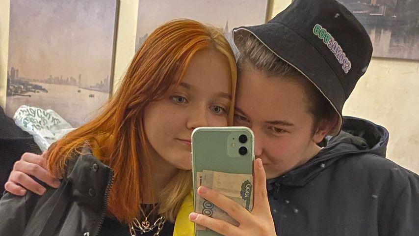 Darya Sudnishnikova mit ihrem neuen Freund
