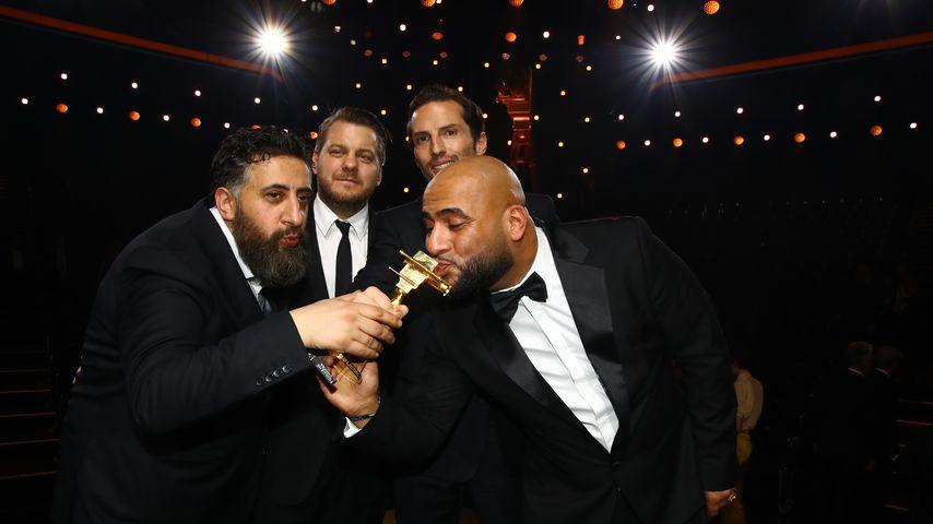 """Das """"4 Blocks""""-Team bei der Verleihung der Goldenen Kamera 2018"""