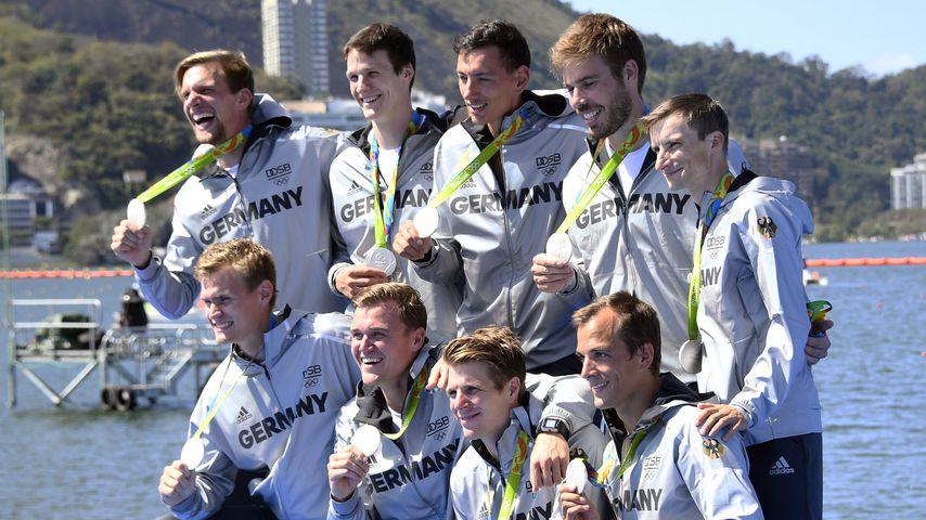 Das deutsche Ruder-Team bei den Olympischen Spielen in Rio de Janeiro 2016