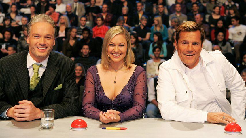 """""""Das Supertalent""""-Jury 2007: André Sarrasani, Ruth Moschner und Dieter Bohlen"""