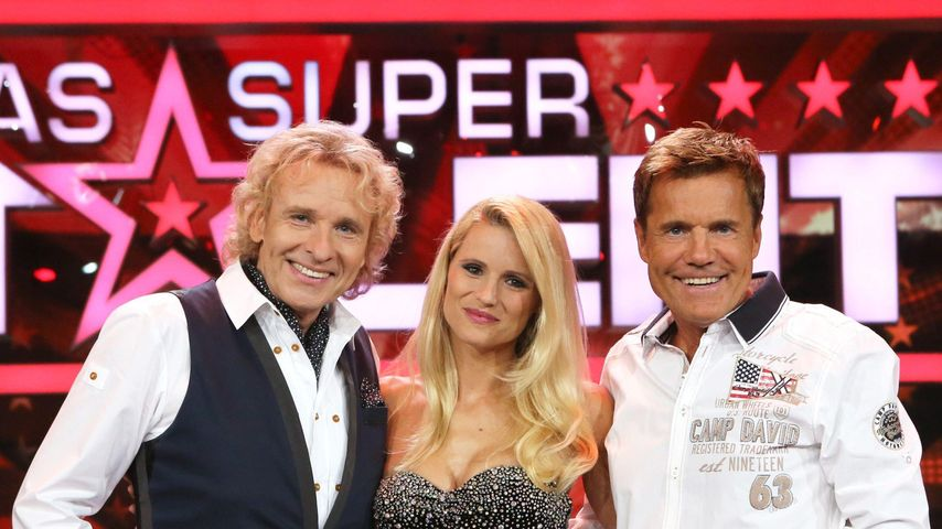 """""""Das Supertalent""""-Jury 2012: Thomas Gottschalk, Michelle Hunziker und Dieter Bohlen"""