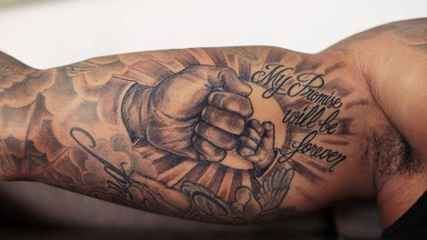 Das Tattoo von Dominic Harrison für seine Tochter Mia Rose