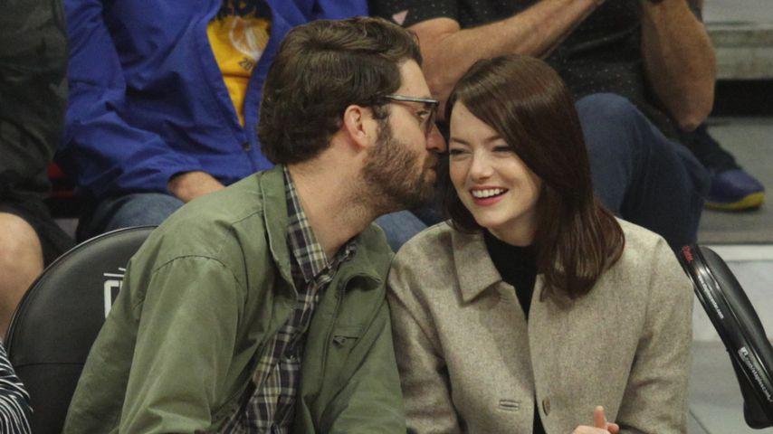 Seltener Anblick: Emma Stone mit Freund Dave beim NBA-Spiel