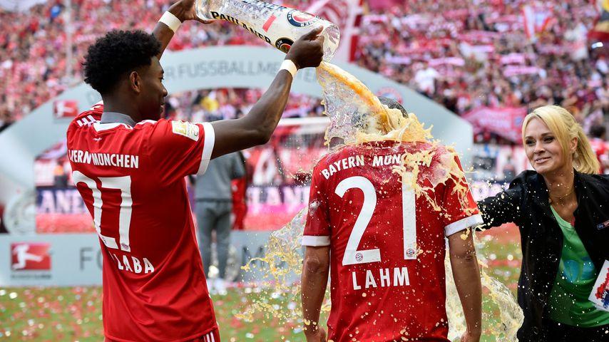 Fußballspieler David Alaba und Philipp Lahm