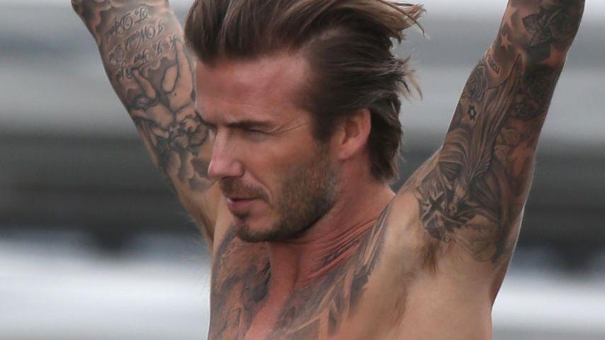 Sportlich: David Beckham trainiert für Triathlon