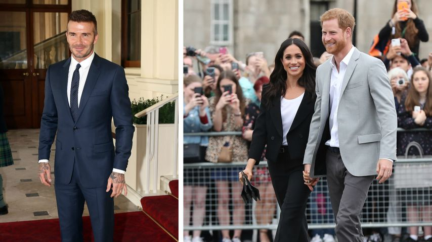 Auf Royal-Tour: David Beckham begleitet Prinz Harry & Meghan