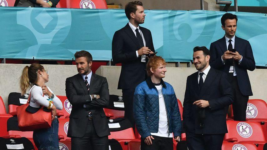 David Beckham und Ed Sheeran bei der Fußball-EM 2020