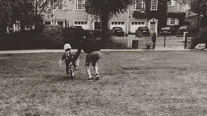 David Beckham platzt vor Stolz: Harper kann Fahrradfahren