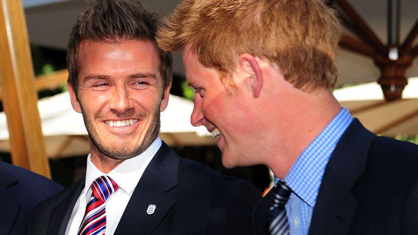 David Beckham und Prinz Harry 2010 Südafrika