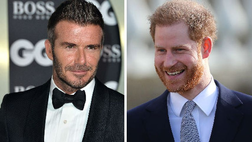 David Beckham schwärmt von Prinz Harrys Vaterqualitäten!