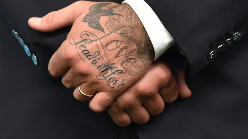 David Beckhams Hand-Tattoos