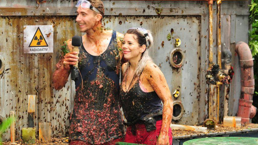 David Friedrich und Jennifer Frankhauser an Tag 15 des Dschungelcamps