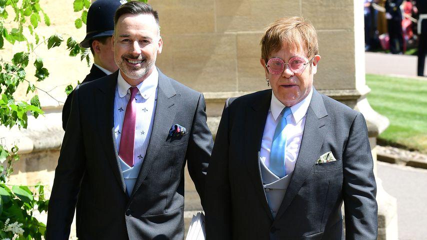 Elton John mit David Furnish auf Schloss Windsor