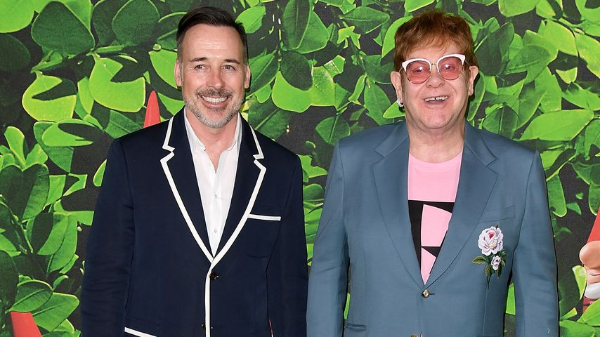 "David Furnish und Elton John bei der ""Sherlock Gnomes"" London Family Gala, 2018"