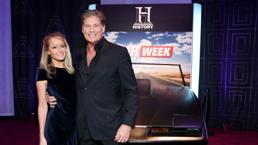 Hayley Roberts und David Hasselhoff im März 2019 in New York