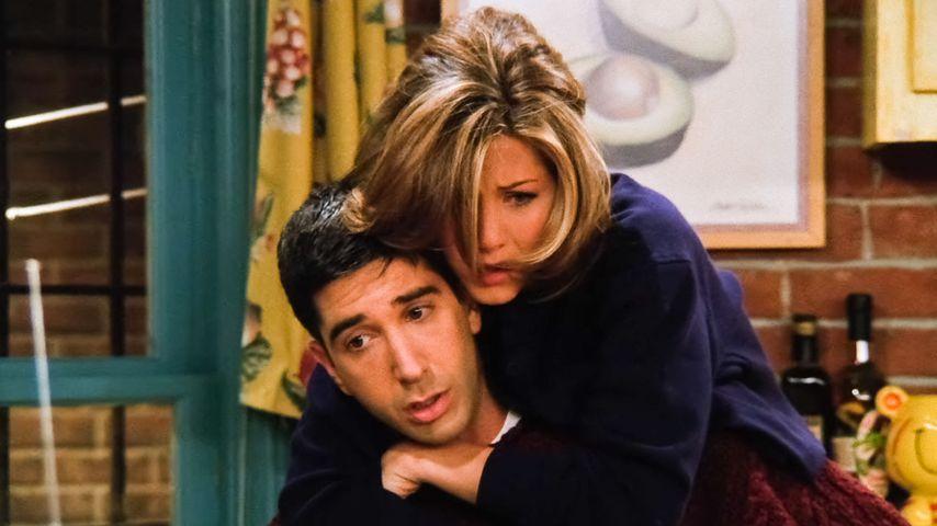 """David Schwimmer und Jennifer Aniston in der Sitcom """"Friends"""", 1995"""