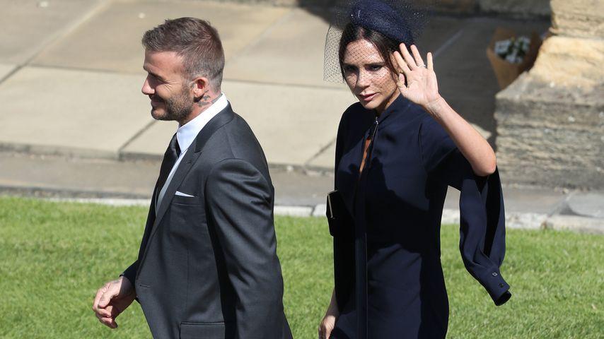 David und Victoria Beckham bei Herzogin Meghan und Prinz Harrys Hochzeit