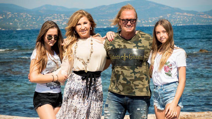 Davina, Carmen, Robert und Shania Geiss, TV-Familie