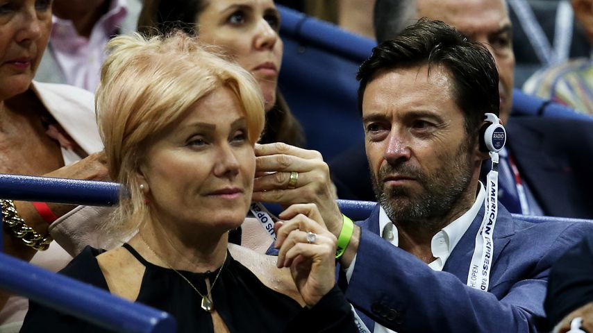 Deborra-Lee Furness und Hugh Jackman 2015 beim US-Open-Finale der Herren