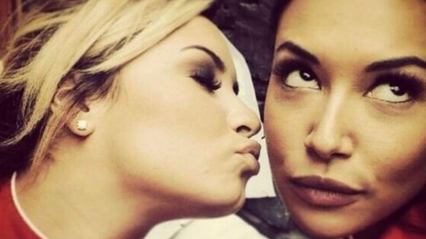 "Demi Lovato und Naya Rivera am ""Glee""-Set"