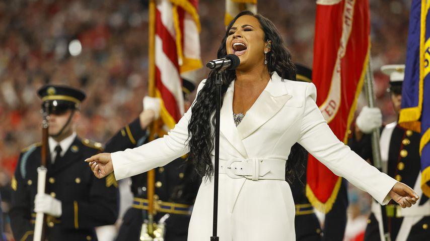 Demi Lovato singt die Nationalhymne beim Super Bowl 2020